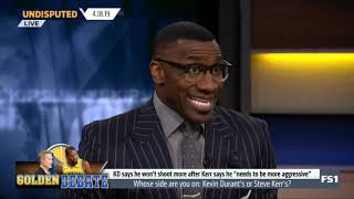 Undisputed  Skip and Shannon PICK UP Whose side are you on  Kevin Durant's or Steve Kerr's