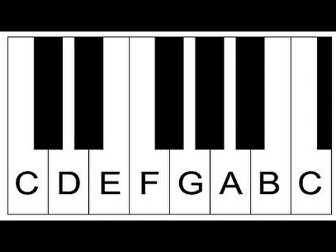 Piano Lesson  How To Label Piano Keys Part  Piano Keyboard