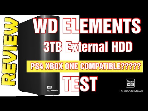 WD Unboxing The Western Digital Elements 3Tb External Desktop HDD REVIEW and Console TEST