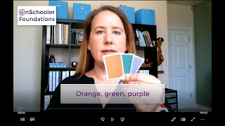 A3-Orange, green, purple (How to teach your preschool/kindergarten child the secondary colors)