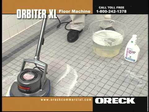 Oreck Commercial Orbiter Floor Machine Porcelain, Ceramic Tile & Grout Cleaning