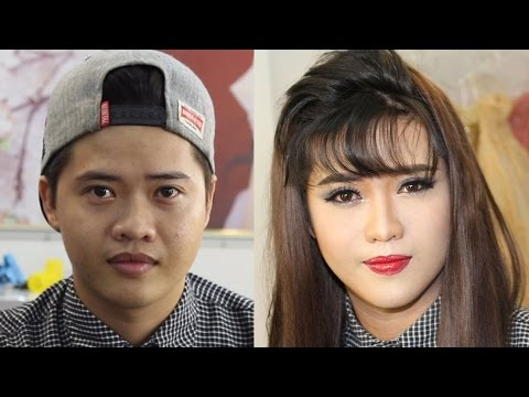 ( Full ) Makeup tutorial boy to girl for night party / Makeup ✔