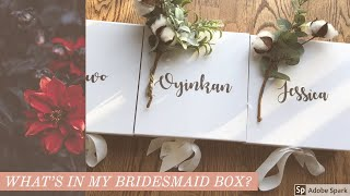 What's In My Bridesmaid Box/ Gift Ideas. Etsy, Amazon, And Micheals