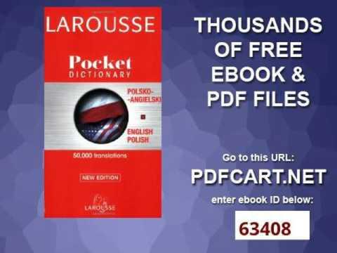 Larousse Pocket Polish English English Polish Dictionary