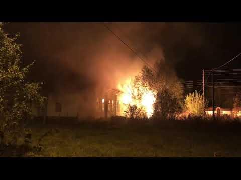 видео: Пожар в здании больницы, п. Новозавидовский, Тверская область, 6.10.18