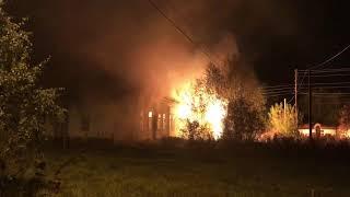 Пожар в здании больницы, п. Новозавидовский, Тверская область, 6.10.18