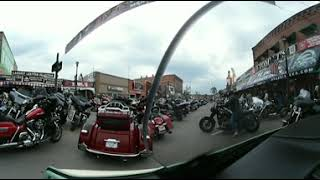 Sturgis Motorcycle Rally 2018 Virtual Reality Movie, Cruising Main Drag 360 Degrees by Biker Lawyer