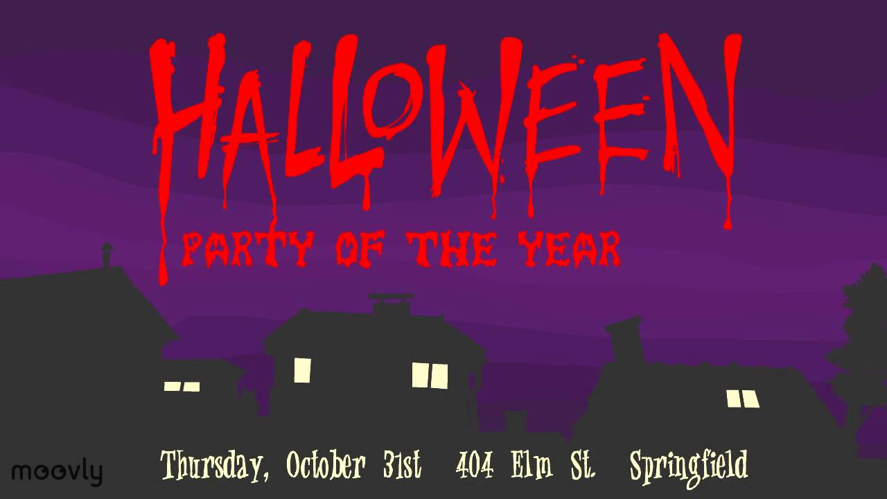 A halloween party invite make your own youtube a halloween party invite make your own stopboris Choice Image