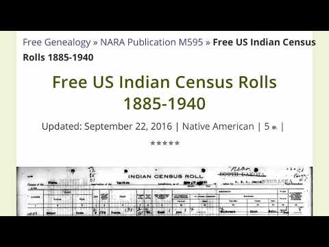Free US Indian Census Rolls - YouTube