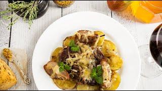 Сочнейшая свинина с грушами // Запеченная свинина с картошкой и сыром в духовке