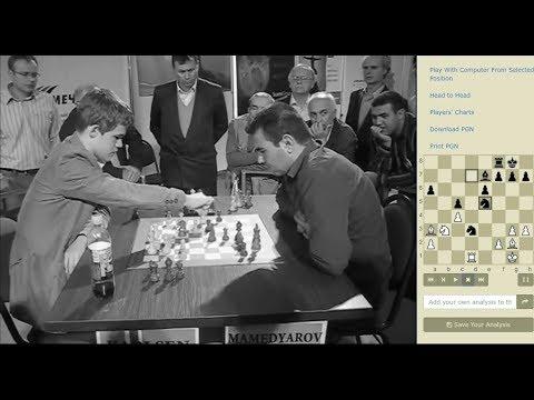 KNIGHT VS BISHOP ENDGAME!!! Magnus Carlsen Vs Shakhriyar Mamedyarov - BLITZ CHESS 2008