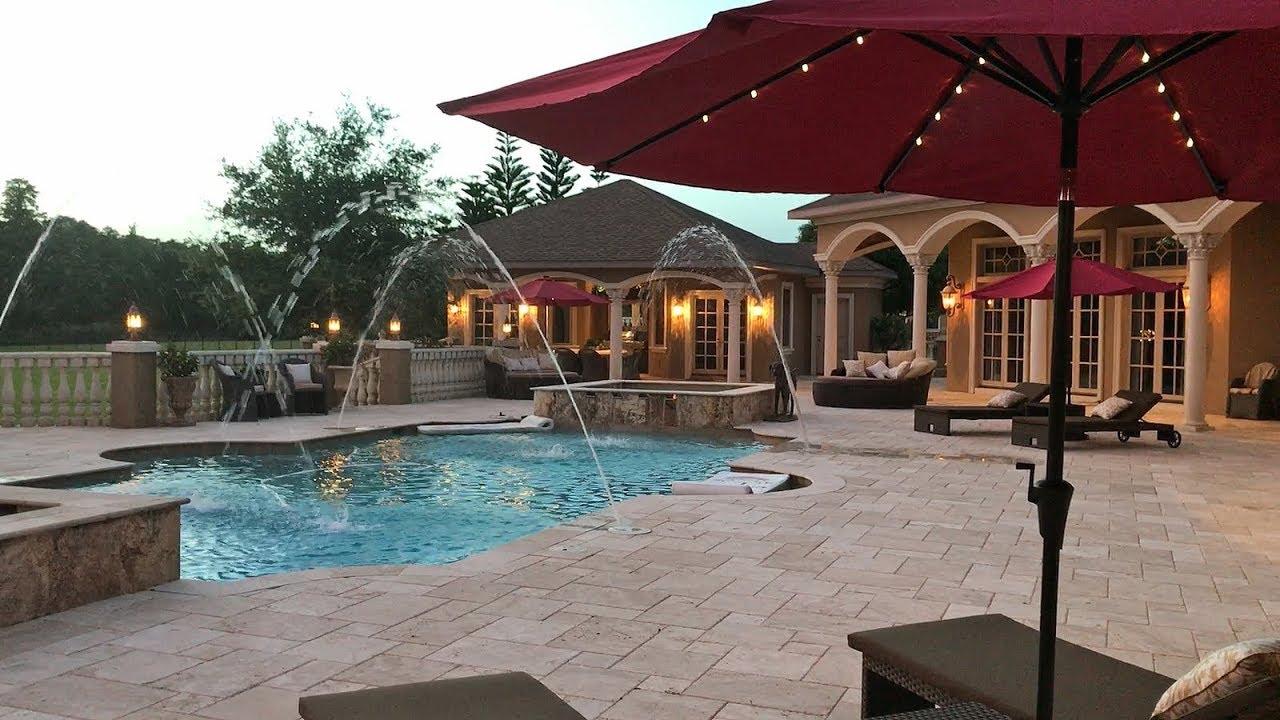 Solar Umbrellas At Sunset At Casa Bella Estate Youtube