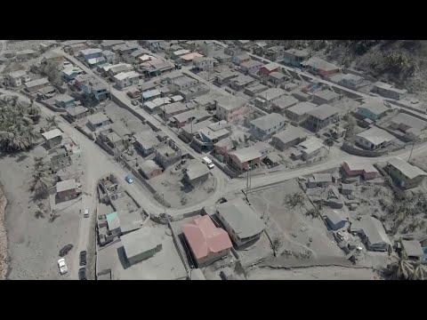 St. Vincent coated in ash after new volcano eruption