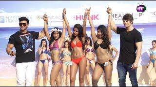 Muscular Girls Posing At Body Power Beach Carnival Goa!