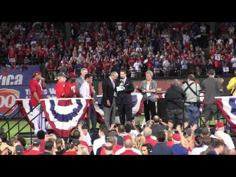 Rangers Win 2011 American League pennant; postgame speeches