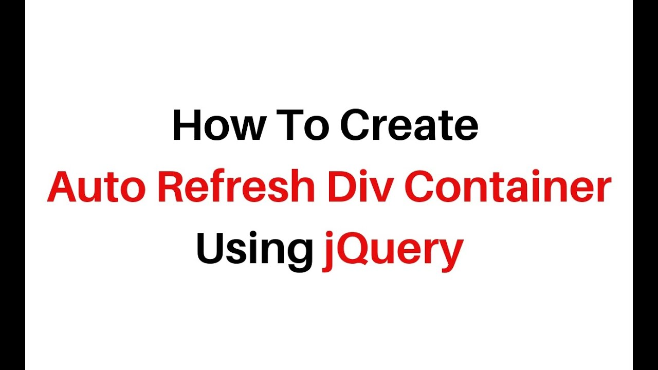 auto refresh particular specific div using jquery 3 3 1