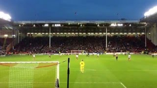 'Greasy Chip Butty Chant' Sheffield United  vs Bradford City at Brammal Lane 15/16