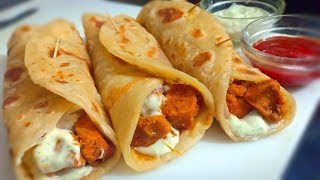 Chicken Rolls Recipe - Street Style - Cook With Lubna
