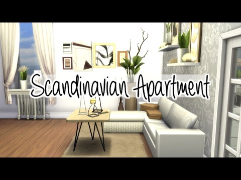 The Sims 4: Speed Build - Scandinavian Apartment (Group Collab)