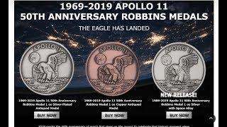 Silver Deals, Apollo 11 Medal, CCT Mini Premium Slides In Stock