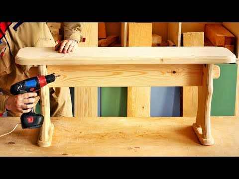 Сборка большой скамейки из сосны, Assembly Big Pine Wood Bench