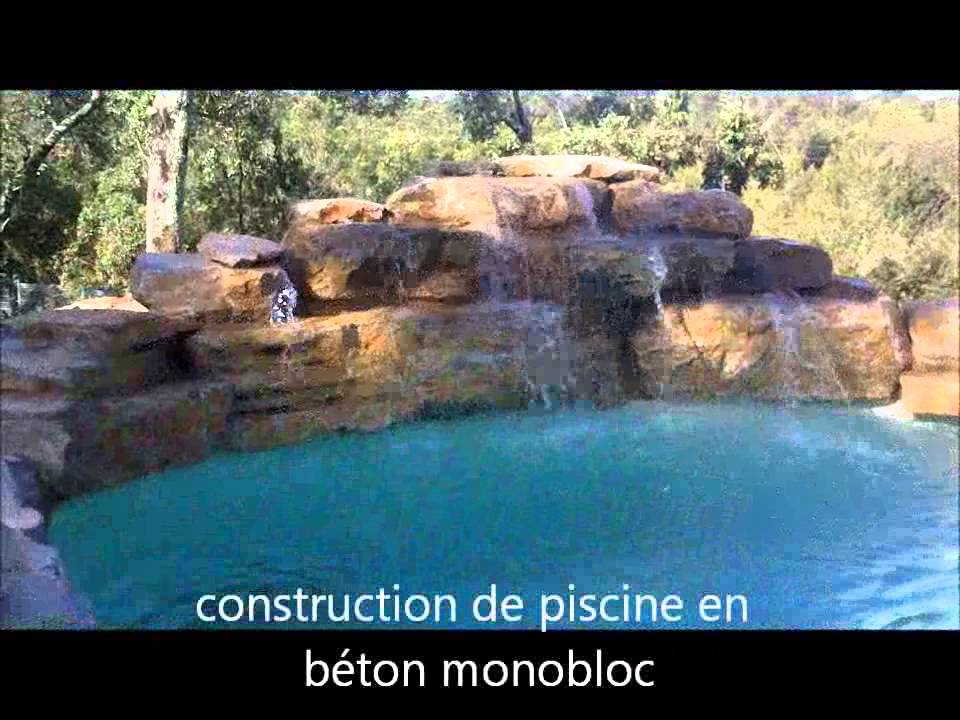 Piscine avec cascade   YouTube