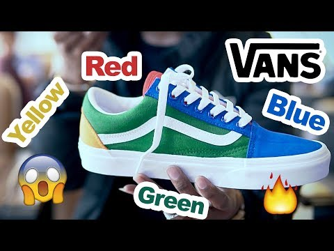 Vans Costumized : Vans Old Skool Yacht Club - Blue / Green / Yellow / Red