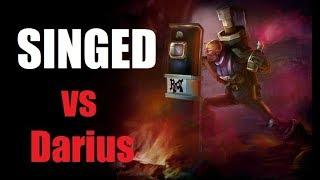 Singed vs Darius Lose Lane Win Game