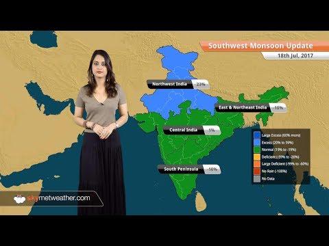 Monsoon Forecast for Jul 19, 2017: Heavy Monsoon rains in Mumbai, Hyderabad; light over Delhi