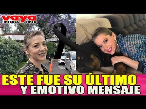 Este fue el último y emotivo mensaje de Edith Gonzalez.