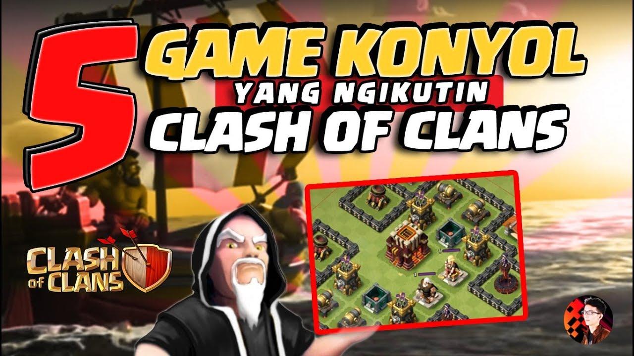 5 Game Konyol Yang Ngikutin CoC Ngakak Abis