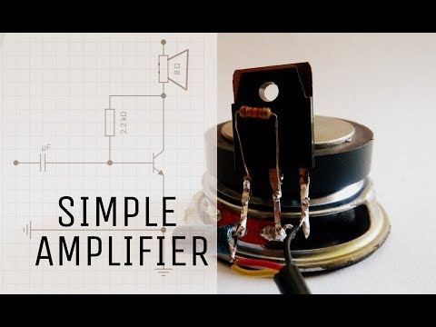 How to make Simple audio amplifier | using only one transistor | Basic amplifier circuit.