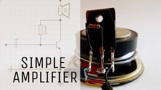 Hoe je Eenvoudig audio versterker   met behulp van slechts één transistor   Basic versterker circuit.