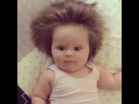 Baby born with full head of hair - YouTube