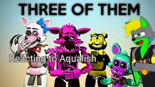 Reacting to Aqualish | [OC/C4D] Three Of Them