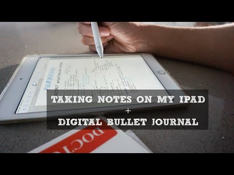 How I Take Notes On My IPAD | Digital Bullet Journal
