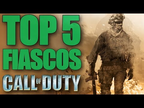 TOP 5 MAIORES FIASCOS DA FRANQUIA CALL OF DUTY!