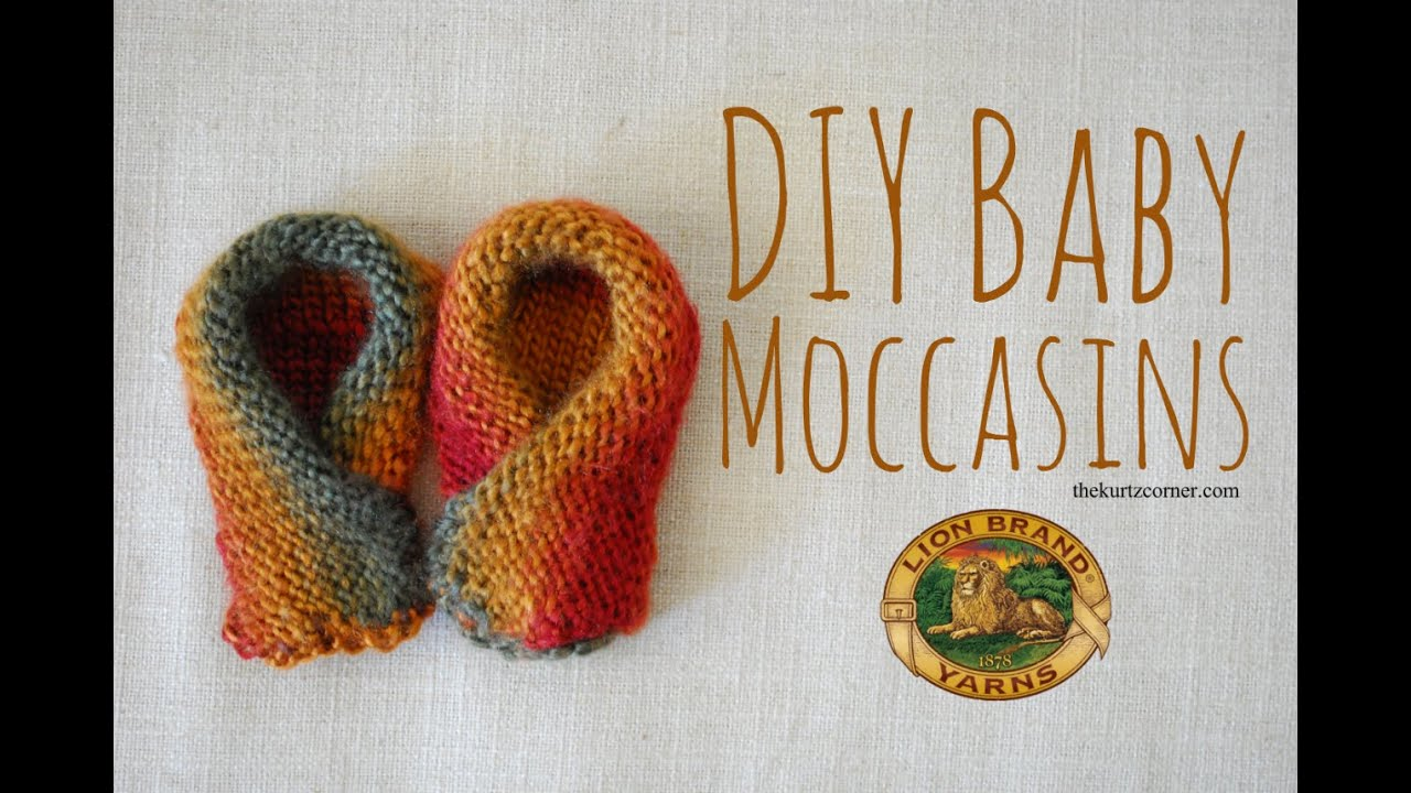 Knitted Baby Moccasins Pattern : DIY Baby Moccasins - Martha Stewart Knit & Weave Loom Kit - YouTube