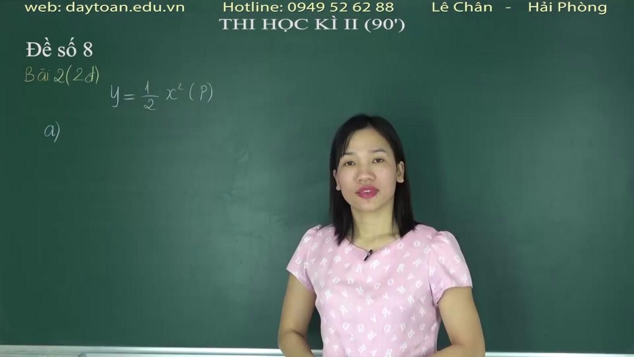 Giới thiệu  Lớp 9 Thi học kì II  Đề số 8 2