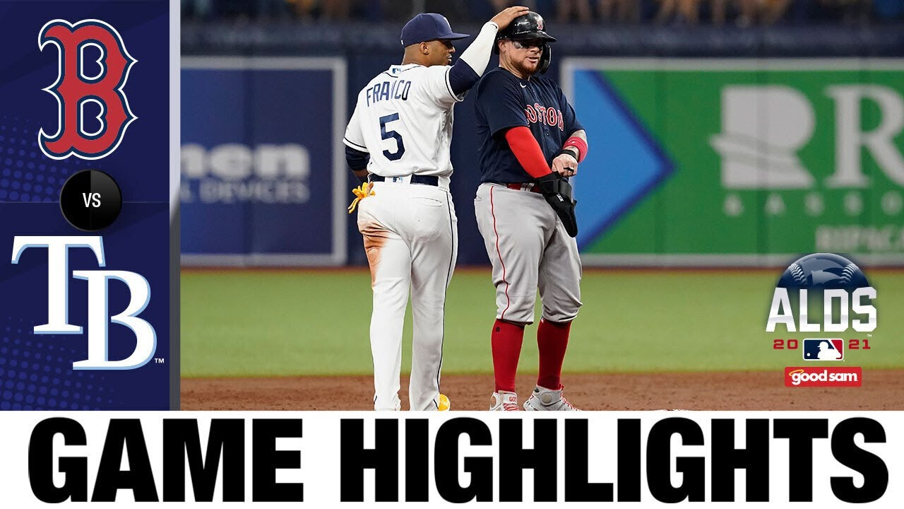 Boston Red Sox Tampa Bay Rays ALDS Game Three Score ...