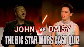 Daisy Ridley and John Boyega fail our Star Wars: The Last Jedi cast quiz!