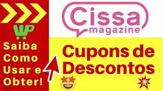 Cupom de Desconto Cissa Magazi…