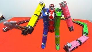 Repeat youtube video 烈車合体トッキュウオー を合体してみた。烈車戦隊トッキュウジャー Ressha Sentai