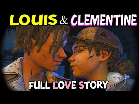 Louis & Clementine (FULL LOVE STORY) The Walking Dead The Final Season All Episodes - Louis Romance