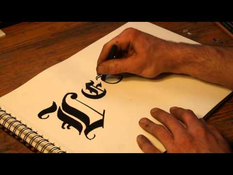 How to Draw Classic or Gothic Letters