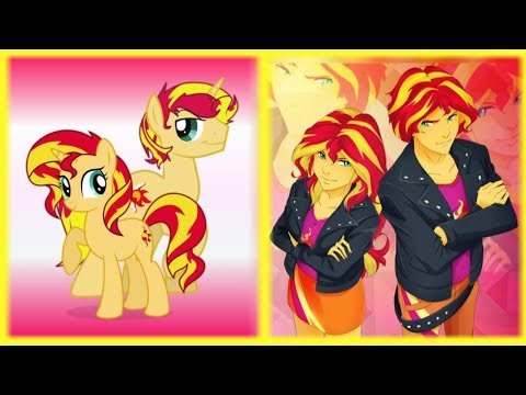My Little Pony GENDER TWINS (Pony and Human Form)!!!