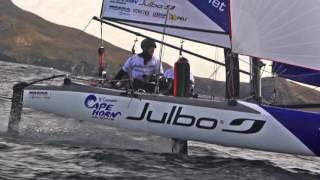 Franck Cammas passe le Cap Horn en catamaran de sport à foils