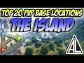 Ark Survival Evolved - Top 20 PVP Base Locations on The Island