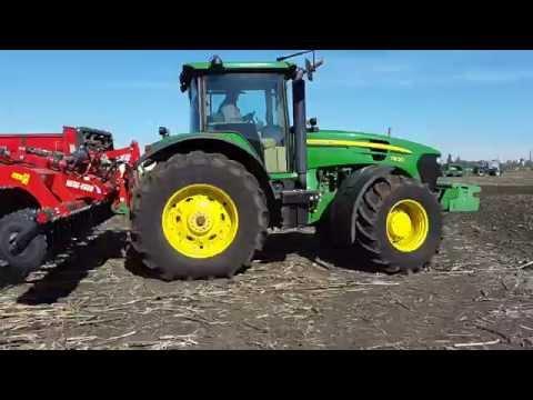 Трактор John Deere 7930 и дисковая борона Kruk U710