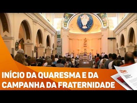 Início da quaresma e da campanha da fraternidade para os católicos - TV SOROCABA/SBT